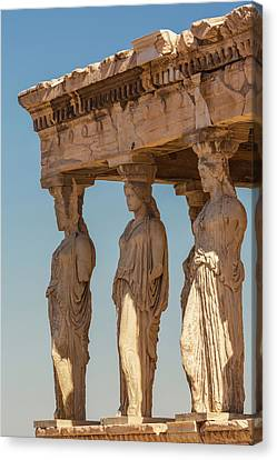 Caryatids Canvas Print - Athens, Attica, Greece. Porch by Panoramic Images