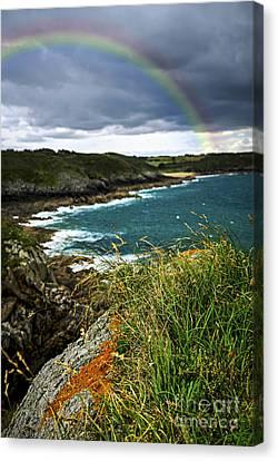 Rainbows Canvas Print - Atlantic Coast In Brittany by Elena Elisseeva