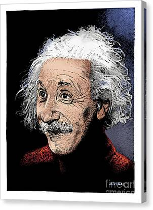 Atomic Albert Canvas Print by Joseph Juvenal