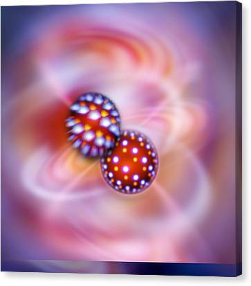 Atomic Interactions, Conceptual Image Canvas Print by Science Photo Library