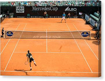 Atp World Tour Canvas Print - Atp Qualification In Stuttgart - Germany by Frank Gaertner