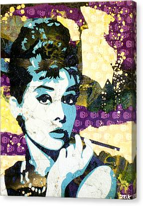 Audrey All Day Canvas Print by Bobby Zeik