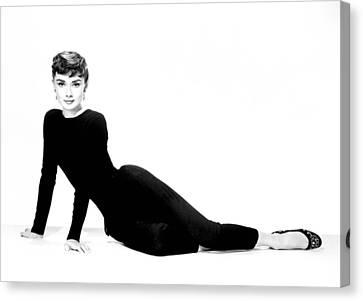 Audrey Hepburn Canvas Print by Cool Canvas