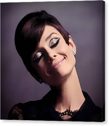 Portraits Canvas Print - Audrey Hepburn by Mountain Dreams