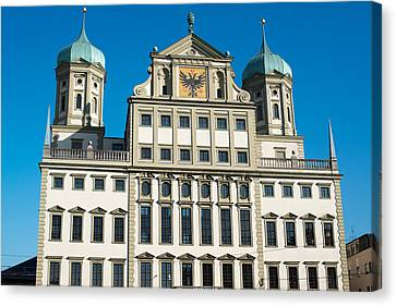 Augsburg Townhall - Rathaus Canvas Print by Frank Gaertner