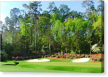 Augusta National - Hole 13 Canvas Print by Bo  Watson
