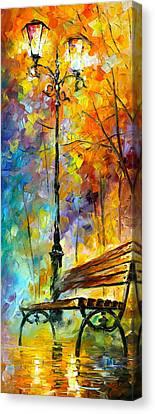 Aura Of Autumn 2 Canvas Print by Leonid Afremov