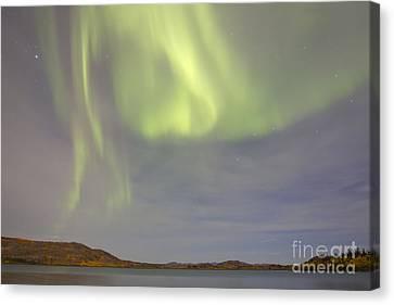 Aurora Borealis With Big Dipper Canvas Print by Joseph Bradley