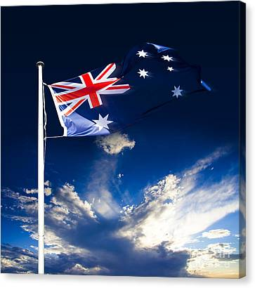 Australian Flag Canvas Print by Jorgo Photography - Wall Art Gallery