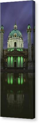 Austria, Vienna, Facade Of St. Charles Canvas Print by Panoramic Images