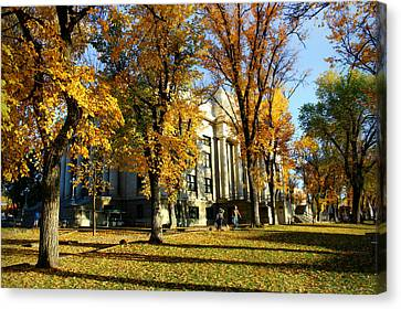 Autumn At The Courthouse Canvas Print