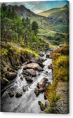 Cwm Idwal Canvas Print - Autumn Creek by Adrian Evans