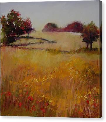 Autumn Field Canvas Print by Jeanne Rosier Smith