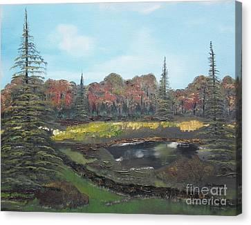 Autumn Landscape Canvas Print by Jan Dappen