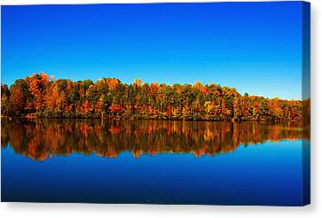 Canvas Print featuring the photograph Autumn Reflections by Andy Lawless