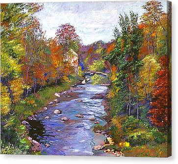 Autumn River Canvas Print by David Lloyd Glover