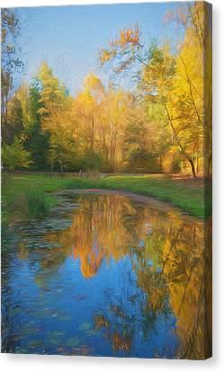 Reflections Of Nature Canvas Print - Autumn Splendor by Kim Hojnacki