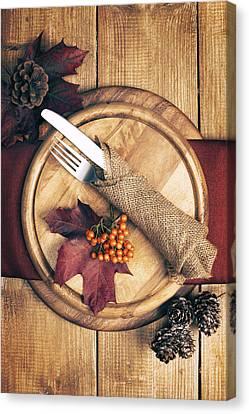 Autumn Table Setting Canvas Print