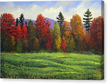 Autumn Trees Canvas Print by Frank Wilson