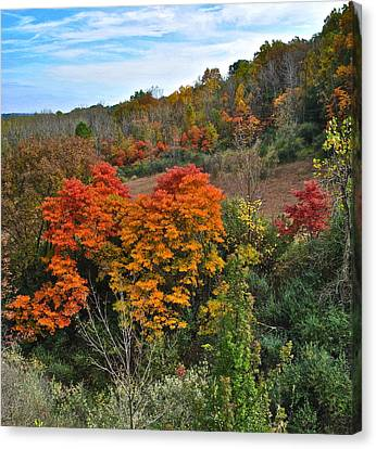 Marvelous View Canvas Print - Autumnal Vista by Frozen in Time Fine Art Photography