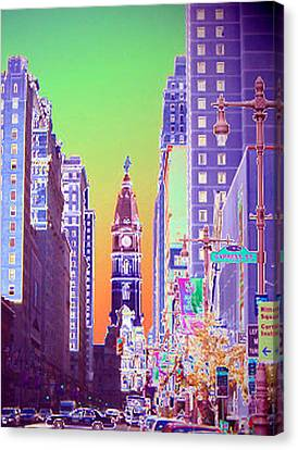Avenue Of The Artsy Canvas Print