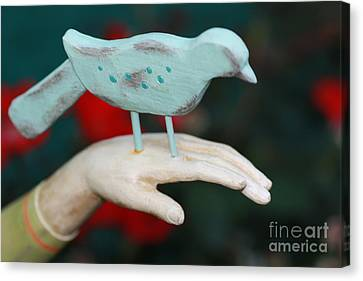 Avian On Hand Canvas Print