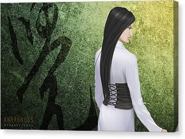 Awareness Ver.a Canvas Print by Hiroshi Shih