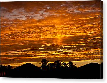 1 Awsome Sunset Canvas Print by Brian Williamson