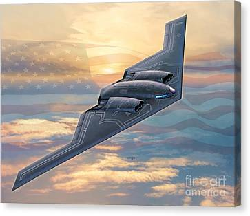 B-2 Spirit Canvas Print by Stu Shepherd