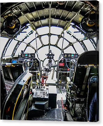B 29 Superfortress Cockpit  Canvas Print by Puget  Exposure