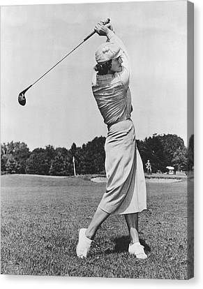 Babe Didrikson Golfing Canvas Print