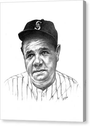 Babe Ruth Canvas Print by Lou Ortiz