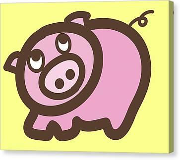 Baby Pig Art For The Nursery Canvas Print by Nursery Art