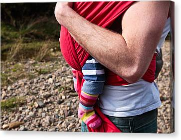 Baby Sling Canvas Print by Tom Gowanlock