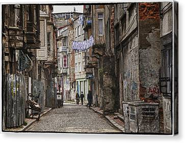 Istanbul Canvas Print - Back Street by Joan Carroll