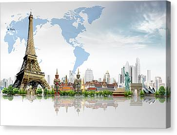 Background Travel Concept  Canvas Print by Potowizard Thailand