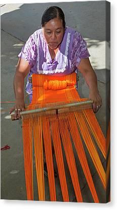 Artisan Canvas Print - Backstrap Loom Weaver by Jim West