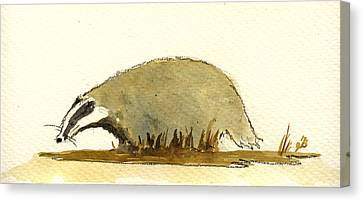 Badger Canvas Print