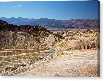 Badland Scenery At Zabriskie Point Canvas Print by Ashley Cooper