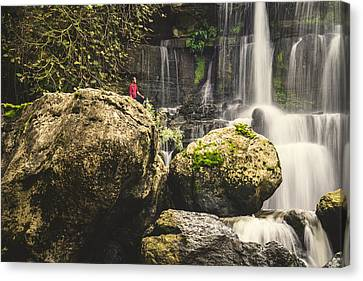 Branch Hill Pond Canvas Print - Bajouca Waterfall Iv by Marco Oliveira