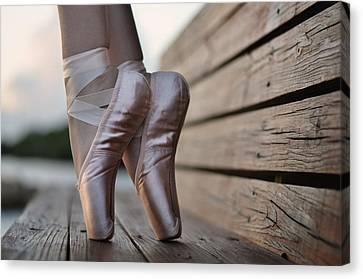 Ballet Dancers Canvas Print - Balance by Laura Fasulo