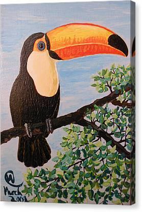 Balance That Beak Canvas Print by Martha Cervantes
