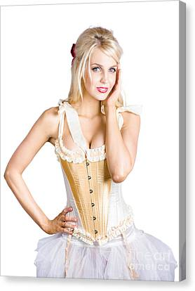 Ballet Dancer In Corset Dress Canvas Print by Jorgo Photography - Wall Art Gallery