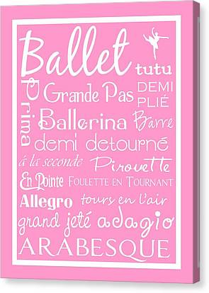 Ballet Subway Art Canvas Print by Jaime Friedman