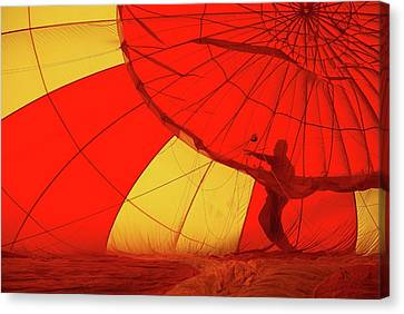 Canvas Print featuring the photograph Balloon Fantasy 2 by Allen Beatty
