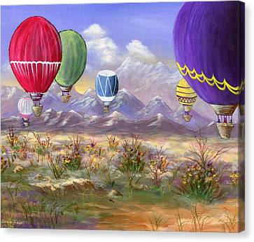 Canvas Print featuring the painting Balloons by Jamie Frier