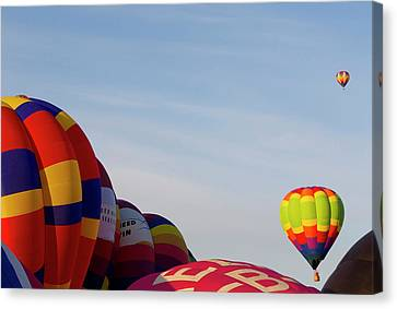 Balloons Lifting For The Mass Ascension Canvas Print