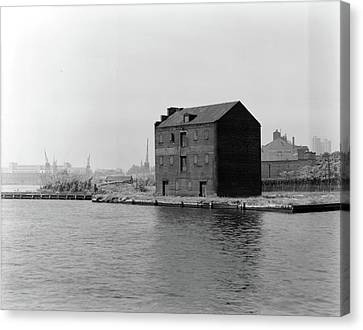 Canvas Print featuring the photograph Baltimore Fell's Point by Granger