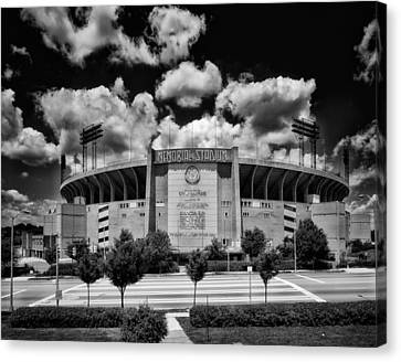 Baltimore Memorial Stadium 1960s Canvas Print by Mountain Dreams