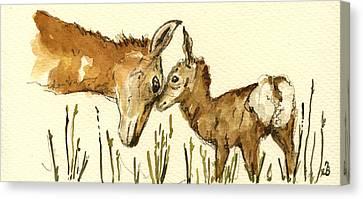Bambi Deer Canvas Print by Juan  Bosco